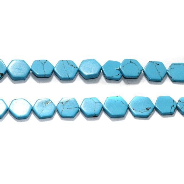 2 Strings Semiprecious Howlite Beads 9x2mm