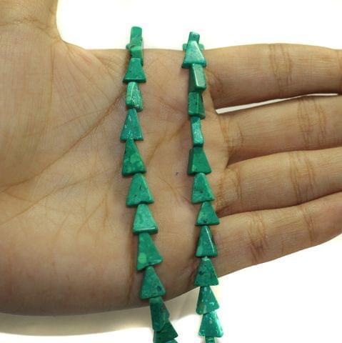 2 Strings Semiprecious Howlite Beads 9x7mm