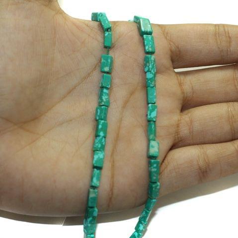 2 Strings Semiprecious Howlite Beads 6x3mm