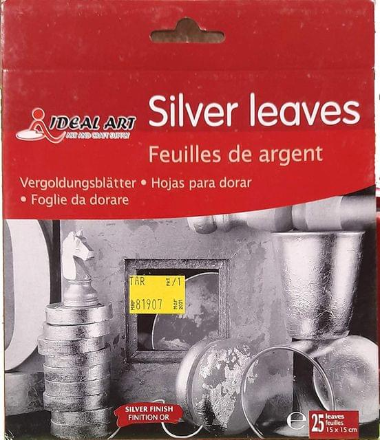 Silver Leaf Sheets, 5.5 Inch x 5.5 Inch Gilding Foil Silver Foil Paper for Paintings, Arts Crafts