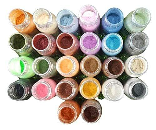 Mica Powder Pigments for ResinArt, Making Cosmetic, Pack of 20 Colors - 15 GMS Each