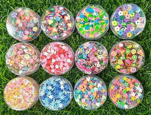 Resin Charms Made of Clay 12 Colors (10 GMS Each)