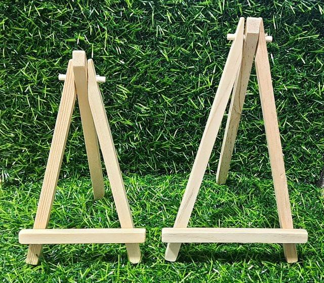 Mini Wood Display Easel Stand Natural Craft Table Stand Combo (Pack of 5 Pcs)