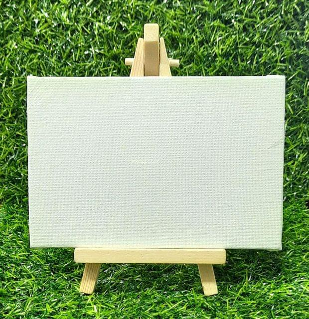 Mini Wood Display Easel Stand Natural Craft Table Stand Canvas (Pack of 5 Pcs)