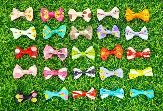 Decorative Craft Bows for Dresses, Gifts wrappings, 4 cm (Pack of 100 Pcs)