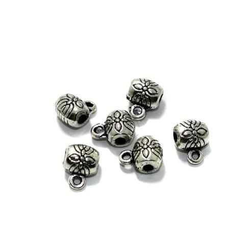 50 Pcs German Silver Charms 8mm