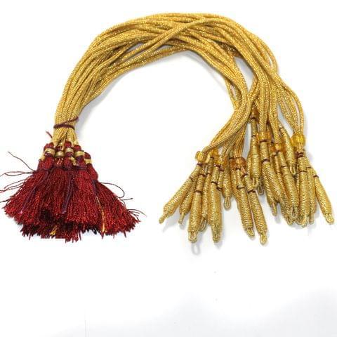 12 Pcs Zari Backrope Necklace Dori