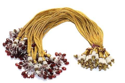 12 Pcs Zari Backrope Double Line Necklace Dori