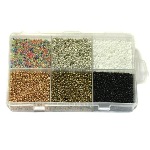 Opaque Glass Seed Beads DIY Kit for Jewellery Making, Beading, Embroidery and Art and Crafts, Size 11/0 (2mm)