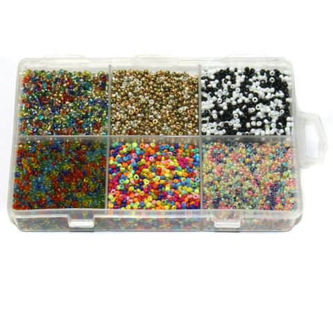 Mixcolor Glass Seed Beads DIY Kit for Jewellery Making, Beading, Embroidery and Art and Crafts, Size 11/0 (2mm)