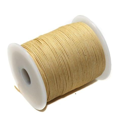 100 Mtrs Jewellery Making Cotton Cord Peach 1mm