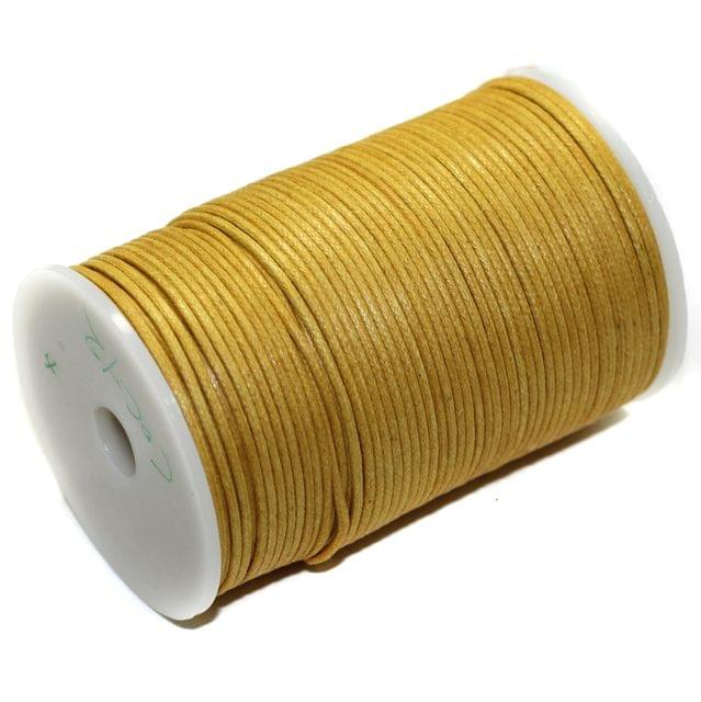 100 Mtrs Jewellery Making Cotton Cord Golden 2mm