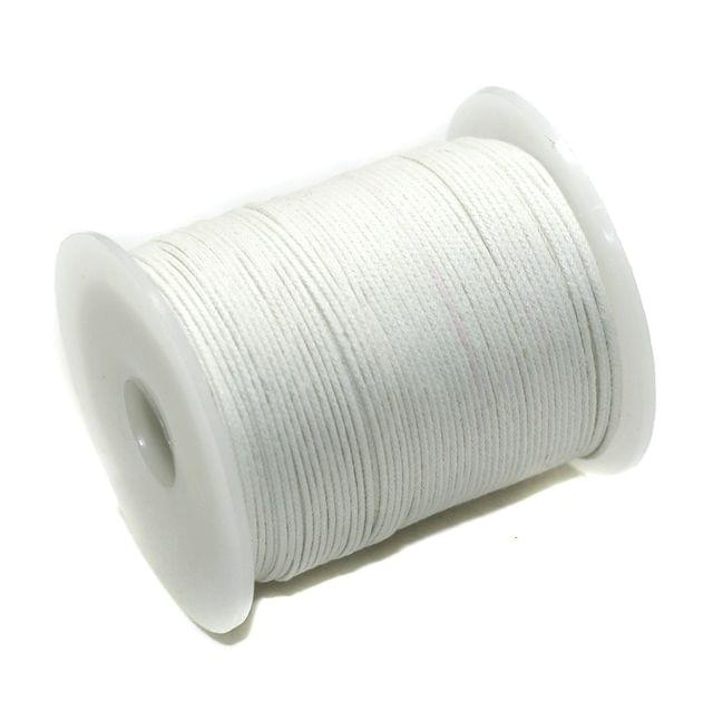100 Mtrs Jewellery Making Cotton Cord White 1mm
