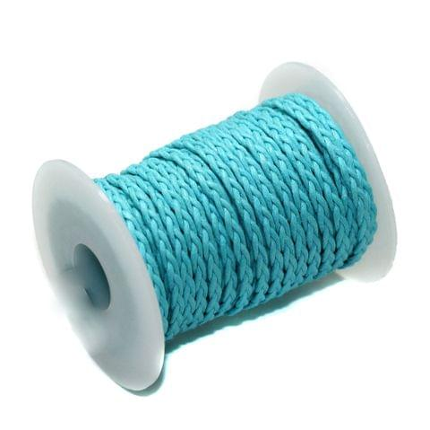 10 Mtrs 3 Ply Braided String Cotton Cords Rope Turquoise 3mm
