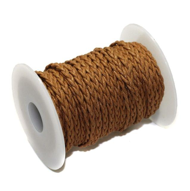 10 Mtrs 3 Ply Braided String Cotton Cords Rope Khakhi 3mm