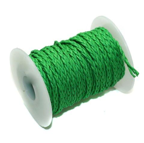 10 Mtrs 3 Ply Braided String Cotton Cords Rope Green 3mm
