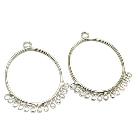 2 Pairs Brass Earrings Components Oval 1.50 Inch