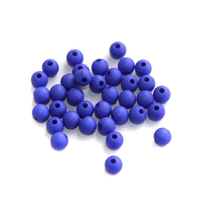 200 Acrylic Round Beads Blue 5mm
