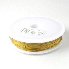 100 Mtr Jewellery Making Metal Beading Wire Golden 0.45