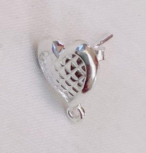 Sterling Silver Heart Stud with Loop