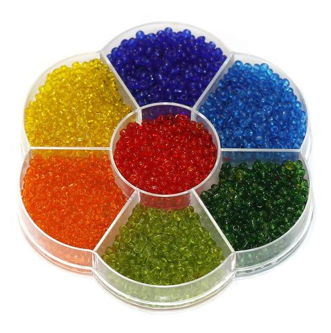 7 Colors Trans Seed Beads Kit, Size 8/0