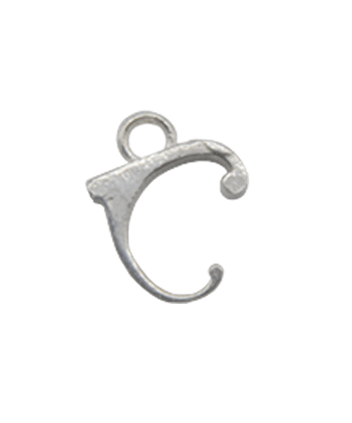 "Sterling Silver Alphabet Charm ""C"""