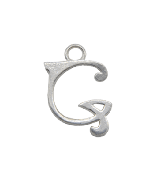 "Sterling Silver Alphabet Charm ""G"""
