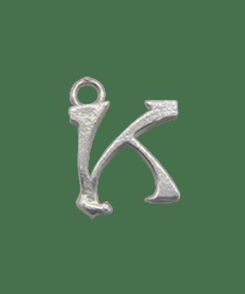 "Sterling Silver Alphabet Charm ""K"""