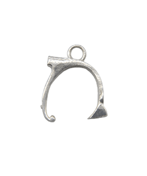 "Sterling Silver Alphabet Charm ""N"""