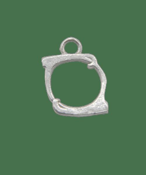 "Sterling Silver Alphabet Charm ""O"""