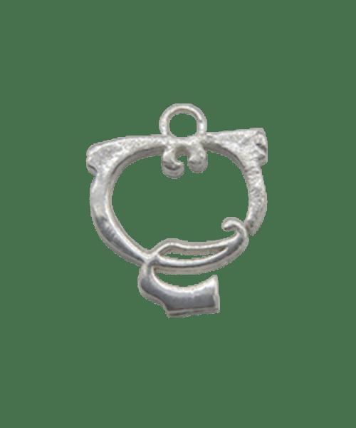 "Sterling Silver Alphabet Charm ""Q"""