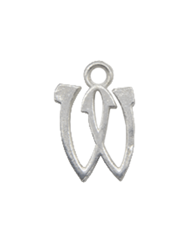 "Sterling Silver Alphabet Charm ""W"""