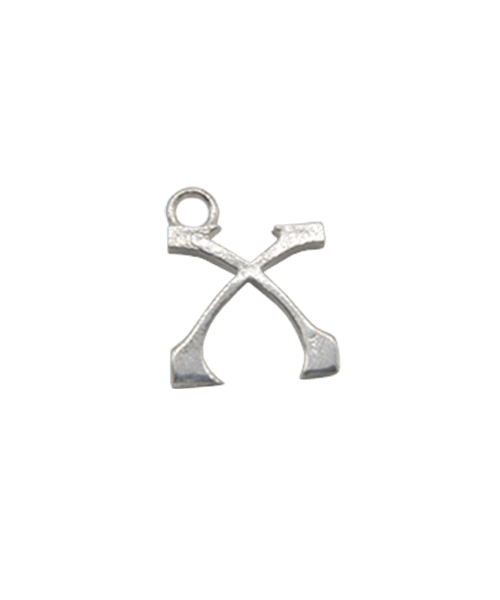 "Sterling Silver Alphabet Charm ""X"""