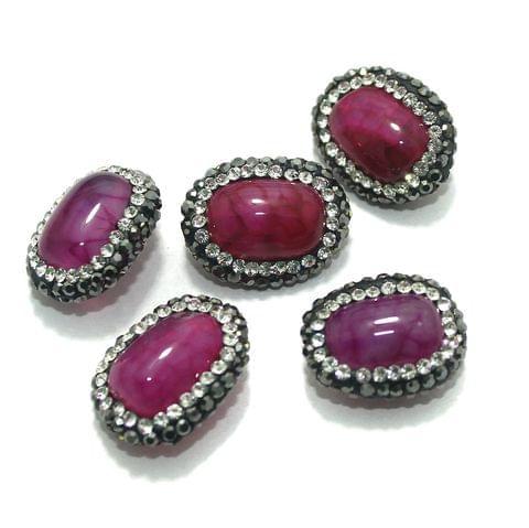 5 Pcs Gemstone CZ Beads 13x19mm
