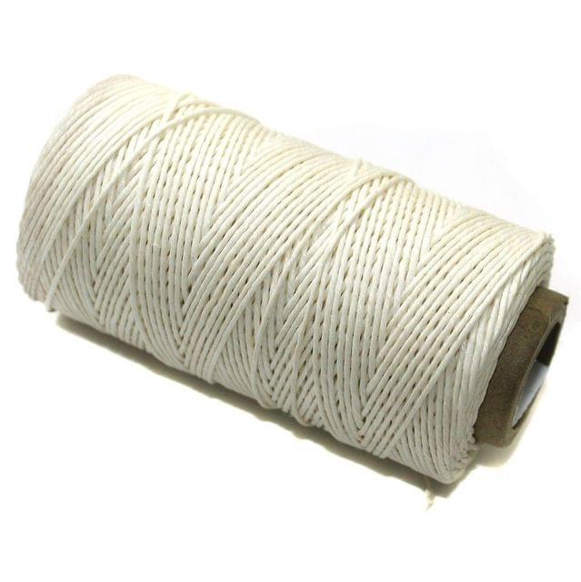 200 Mtrs Hemp Cord White 0.5mm