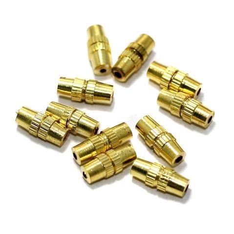 20 Barrel Clasp Gold 9x3 mm
