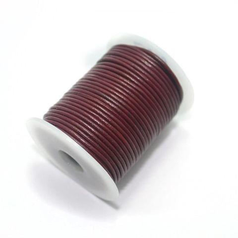 25 Mtrs Leather Cord 1mm Cherry