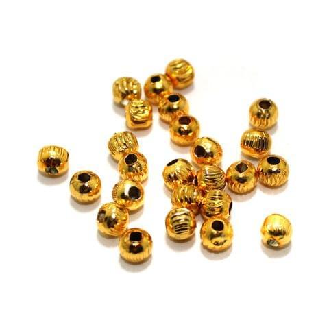 100 Pcs Golden Metal Balls 5mm