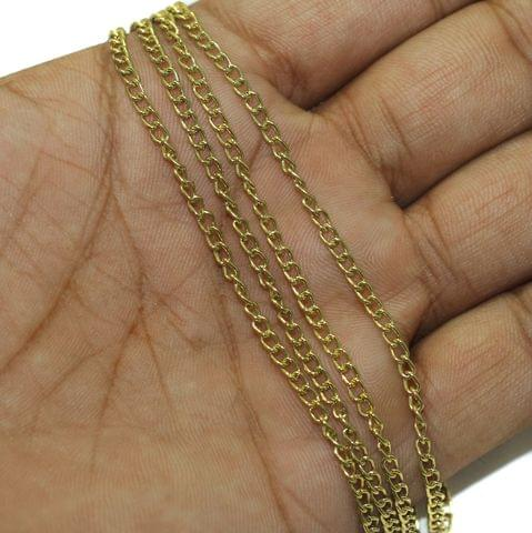 5 Mtrs Metal Chain Golden, Link Size 3X2mm