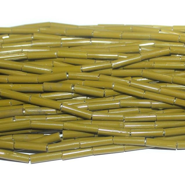 Tube Beads Mehandi Colour. 10 string 200rs .