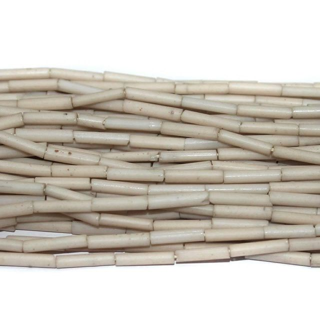 Tube Beads White Colour. 10 string 200rs .