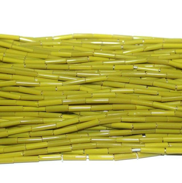 Tube Beads YELLOW Colour. 10 string 200rs .
