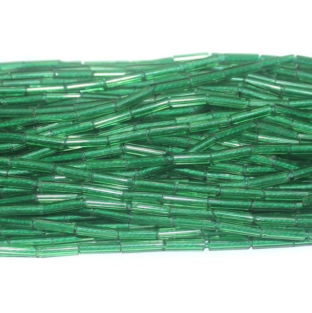 Tube Beads Trans Green Colour. 10 string 200rs .