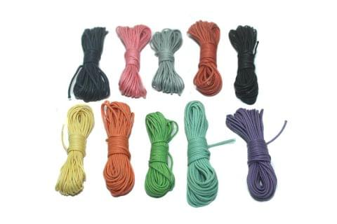 10 pcs [5mtr each] Cotton Cord 1mm Combo Pack Assorted Color