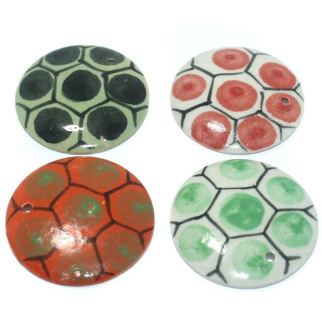 Ceramic Beads Multicolor Round 16 Pcs 50mm