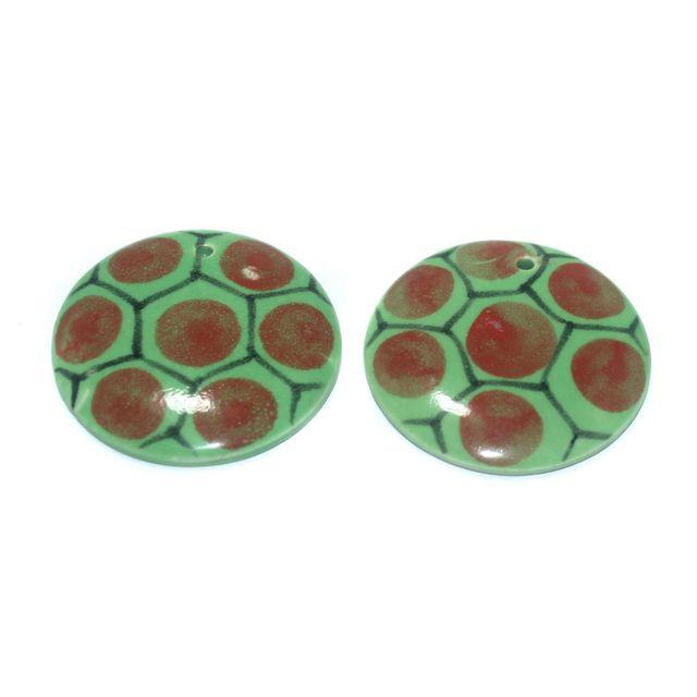 Ceramic Beads Multicolor Round 9 Pcs 50mm