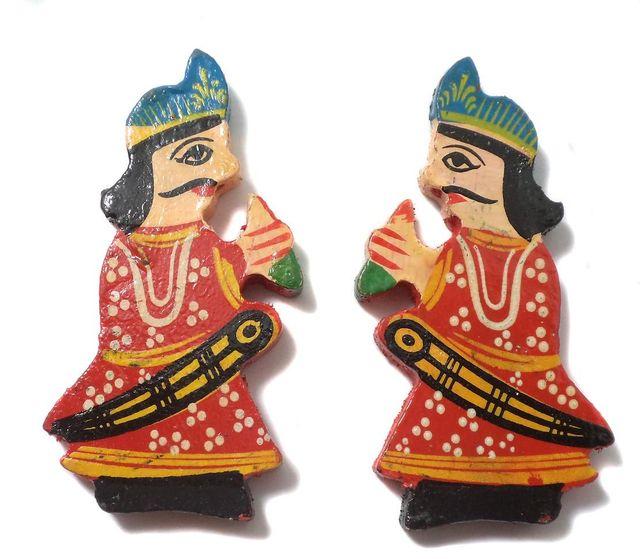 25 Pcs. Wooden Men Beads Big Red 3x1.25 Inch