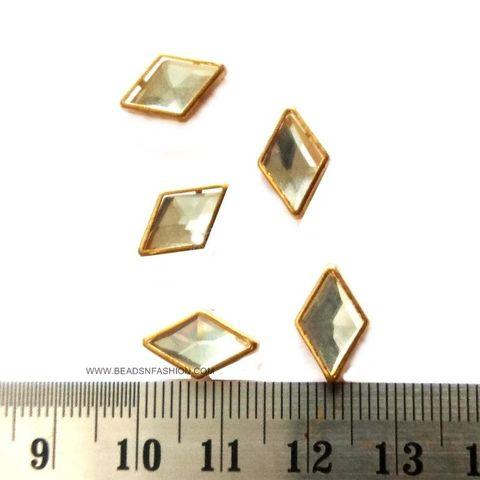 Diamond Kundan stones Golden Prongs for Kundan jewellery making rangoli crafts