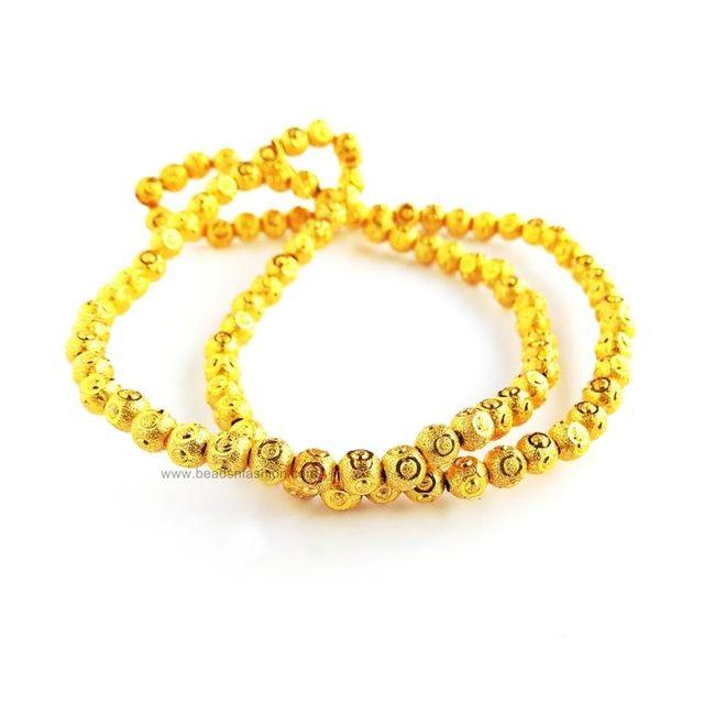 200 Golden Beads Metal Gold Spacer Beads 5 mm Silk Thread Jewellery Materials