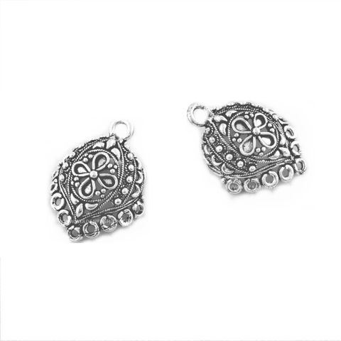 German Silver Jhumka Earring Component. Kite